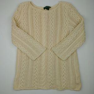 Lauren Ralph Lauren Cream Knit Sweater